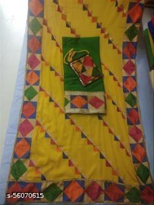 phulkari suit with purse