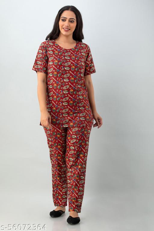 Feranoid Women Lounge Wear Nightsuits