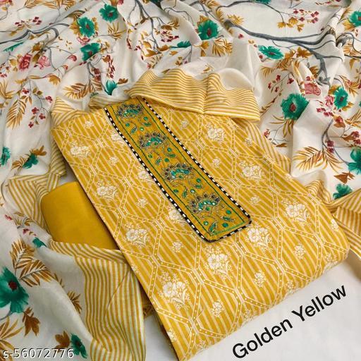 Stylish Cotton Jaipuri Printed Suit with Mul Cotton Printed Dupatta!!!