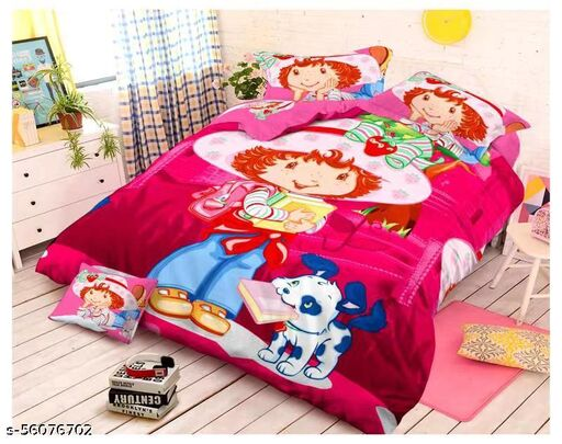 Double Bedsheet Kids Cartoon Character with Two Pillow Cover