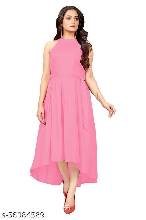 JOY MAKER Women's Fit And Flare Fancy Western Cotton Up &Down Dress