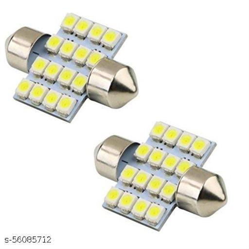 2X16 SMD LED Interior Car Roof Light/Dome Light for -Maruti Suzuki WagonR(White) Pack of 2
