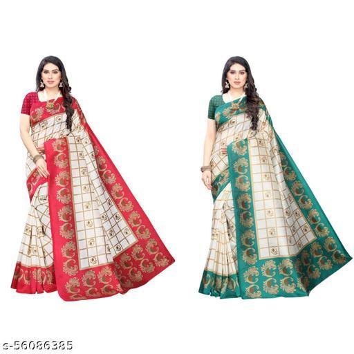 TTH Beautiful Art Silk Saree (Pack of 2)