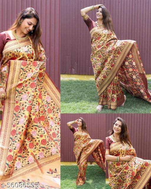 DP Tex Present Kanchipuram Pure silk handloom saree with Pure Jari & New Design Saree