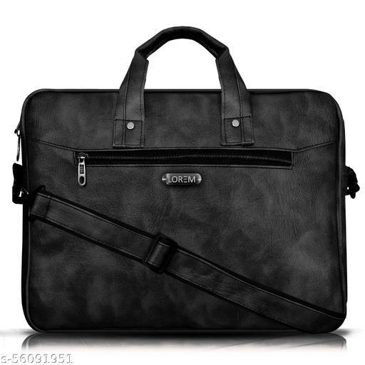 BG27 Black Color Briefcase Laptop Bag Cross Body Office Business Professional Bag for Men & Women