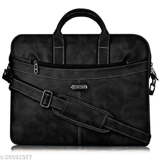 BG36 Black Color Briefcase Laptop Bag Cross Body Office Business Professional Bag for Men & Women