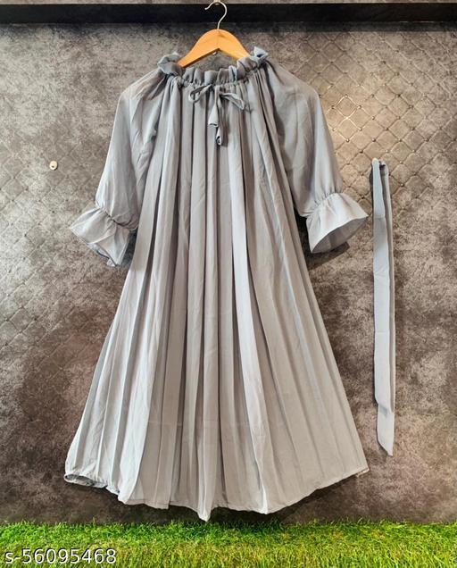CHERRY – 2 WESTERN GREY DRESS
