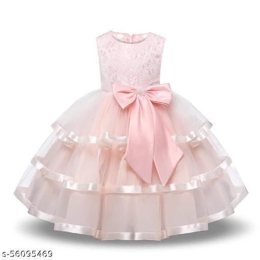 Alisha Moda Girls Maxi/Full Length Party Dress(Sleeveless)