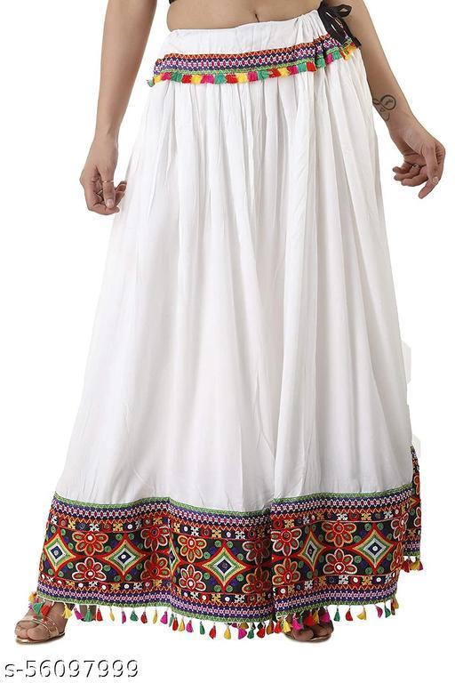 Jaipuri Heavy Lace Border Work Ethnic Long Skirt