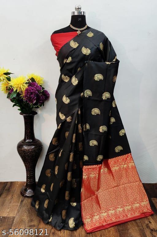 Ladies Designer Party Wear Soft Litchi SIlk Saree