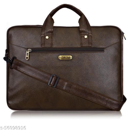 BG11 Brown Color Briefcase Laptop Bag Cross Body Office Business Professional Bag for Men & Women
