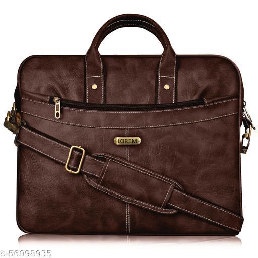 BG37 Brown Color Briefcase Laptop Bag Cross Body Office Business Professional Bag for Men & Women Messenger Bags
