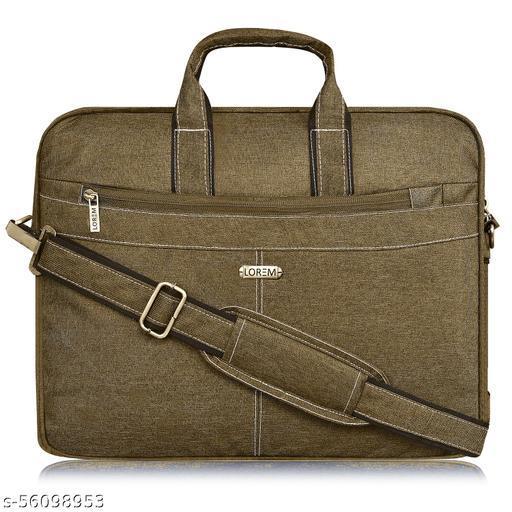 BG40 Mehendi Color Briefcase Laptop Bag Cross Body Office Business Professional Bag for Men & Women