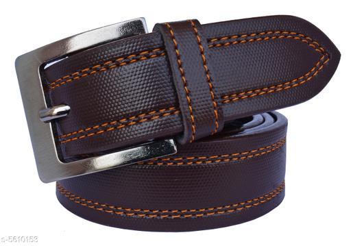 Trendy Men's Brown Synthetic Belt