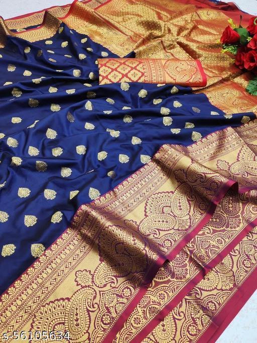 TOKIO ENTERPRICE Women's Kanjivaram Silk Fancy Saree