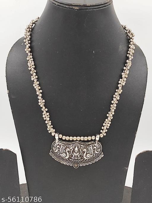 A2 Fashion Trendy Oxidized Goddess Laxmi Necklace
