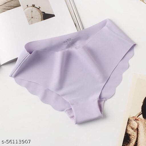 Seamless Set of 1 Grey Color Underwear Invisible Bikini No Show Nylon Spandex Women Panties