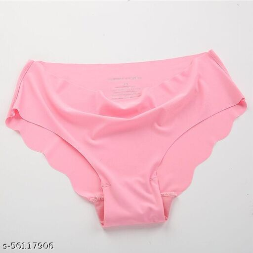 Seamless 1 Pack Baby Pink Color Underwear Invisible Briefs No Show Nylon Spandex Women Panties