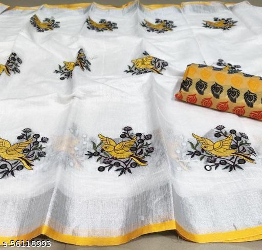 Beautyfull Semi Linen Cotton Saree