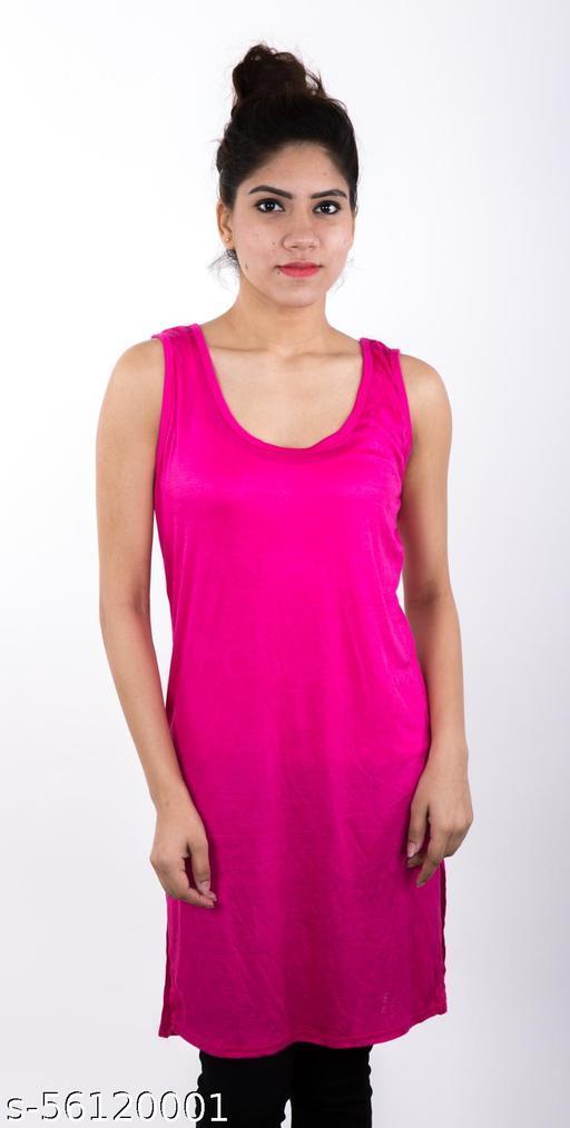 Piftif suit slip Long Camisole/Suit Slip/Long Kurti Slip for Women | Knee Length Tanks for Ladies | Comfortable Innerwear