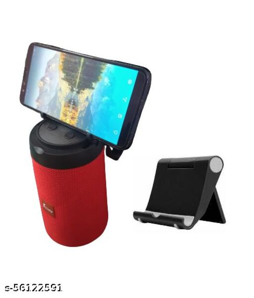 AST-312 Good Sound Quality Wireless Portable Bluetooth Speaker (Multicolor) And Mobile Stand