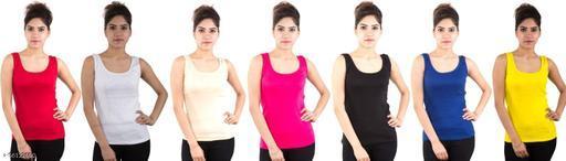 Piftif Cotton Spaghetti top for Women,Camisole for Women & Girls, Cotton Tube, Sando Shameej Inner for Women |Tank/Vest Top for Women's & Girl's Free Size-Pack of 7