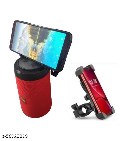 AST-312 Good Sound Quality Wireless Portable Bluetooth Speaker (Multicolor) And Bike Mobile Holder