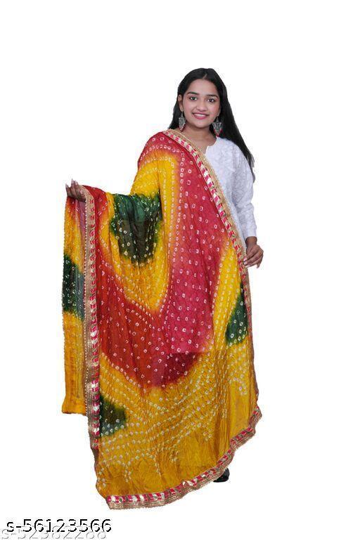 Bandhani art silk dupatta