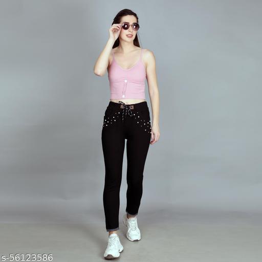 Pocket Pearl Jogger Jeans for Women & Girl