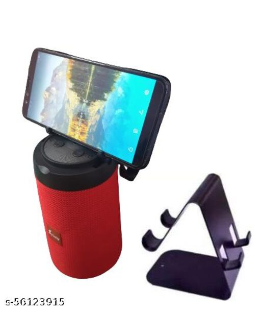 AST-311 Good Sound Quality Wireless Portable Bluetooth Speaker (Multicolor) And Metal Mobile Stand