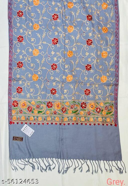 Attractive Embroidered Woolen Stole
