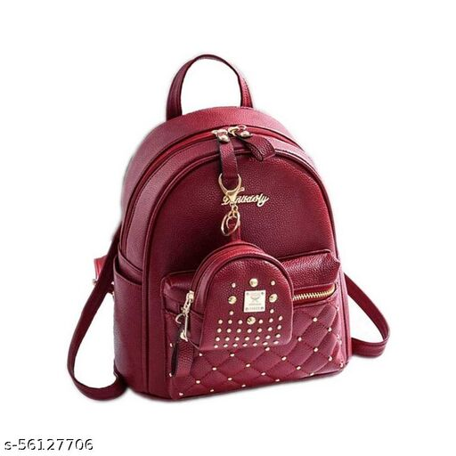 Brown color Trendy and Stylish Backpacks for Girls for Teachers / College / Fund / Study / Office use