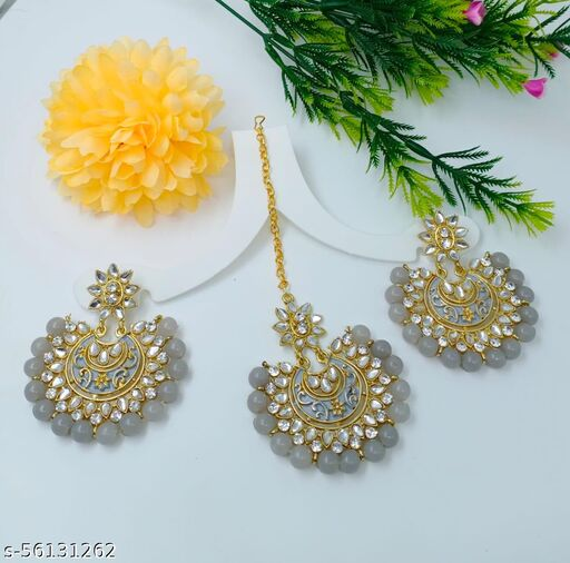 Pari Elite Chic Earrings with tikka