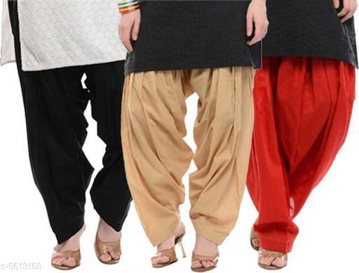 Women's Solid Patiala Pants