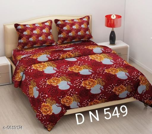 Trendy Glace Cotton 90 X 90 Double Bedsheets
