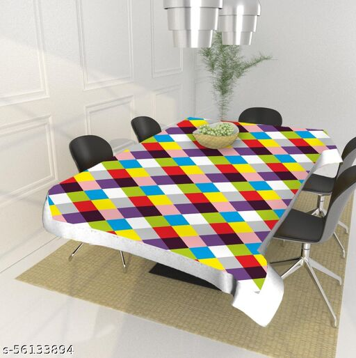 Leaf Trends Dining Table Cover 6 Seater Square (40x60 Inches)