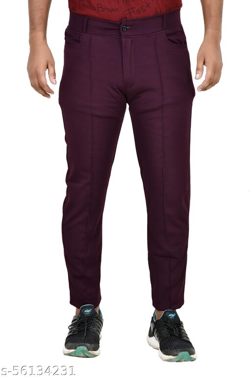 Monal Men's Sports Track Pants Gym Workout Lower with Pocket Regular Track Pants With Button Closure