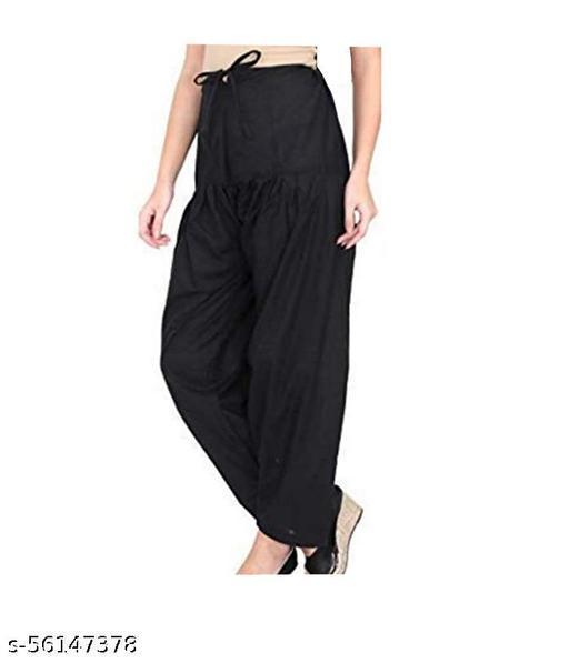 AbAllen Blu Cotton Patiala Salwar (Pants) For Women's Premium Cotton Readymade Salwar Free Size, Pack of 1