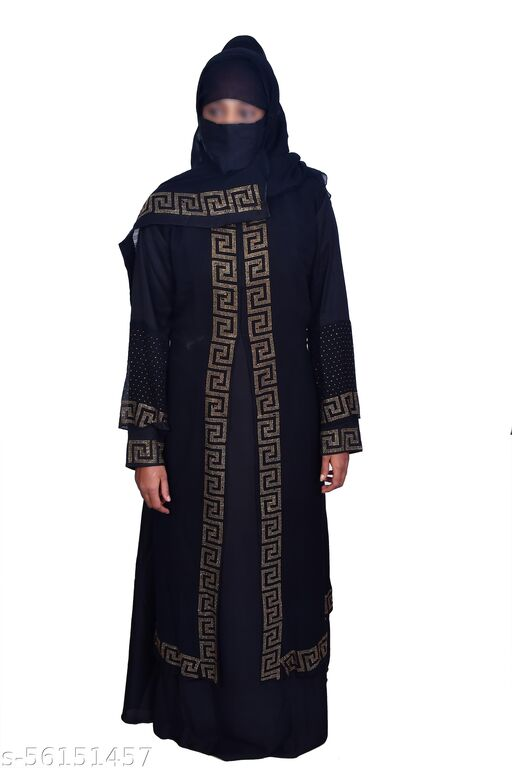 NIDA DOUBLE CLOTH PATTERN BURQA