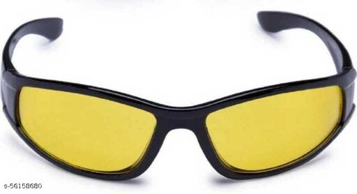 100% UV PROTECTIVE NIGHT VISION GLASSES RECTANGULAR SUNGLASSES FREE SIZE & UNISEX SUNGLASSES