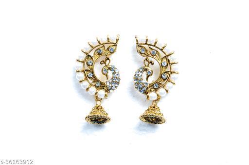 Pearl Peacock earrings