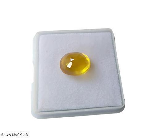 Aanya Jewels Bangkok Yellow Sapphire 6.25 Cts (Pukhraj Stone) Original Certified Natural Gemstone Rashi Ratan Sapphire Stone