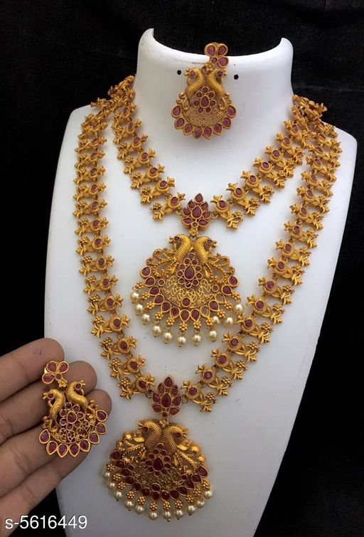 Women's Alloy Gold Plated Jewellery Set