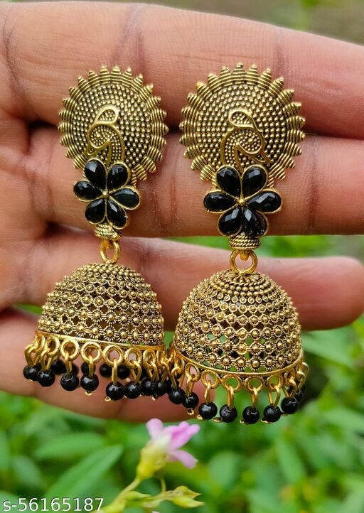 Traditional earing combo for girl & women (Mystery Black)
