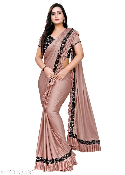 NEW ARRIVAL READY PALLU WITH SEQUENCE BLOUSE SAREE