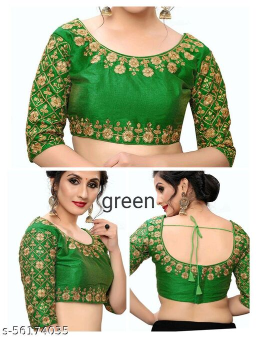 Embroidary Work Blouse Green