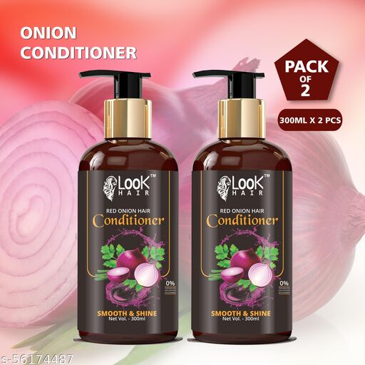 Look hair onion Hair conditioner(Pack of 2)(300ml+300ml)