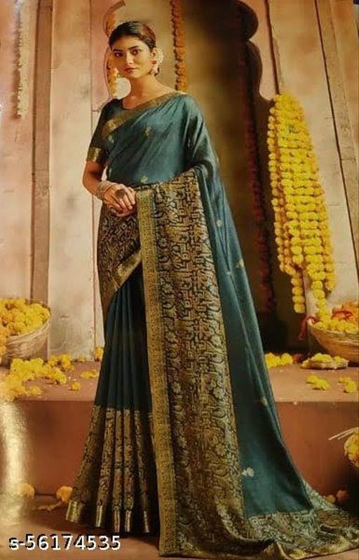 Buy Silk Georgette Saree with Banarasi Zari Border