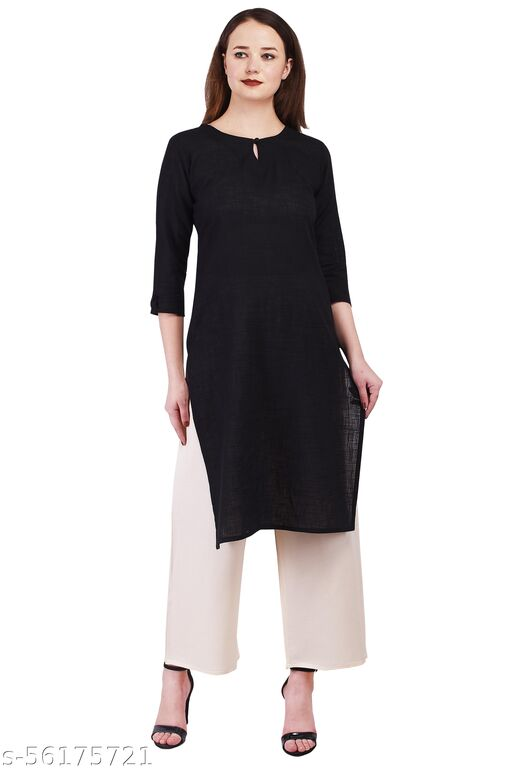Hearts Of Crown Cotton Solid Casual /Daily wear Women Kurti