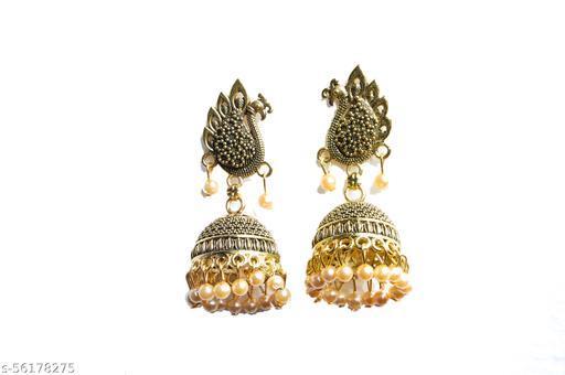 Antique Pearl Peacock jumka Earrings